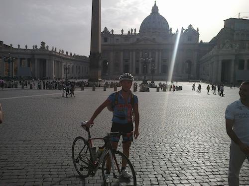 bergamo roma in bici
